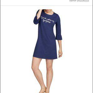 KATE SPADE Blue Ruffle Sleepwear